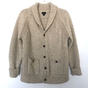 J. Crew Button Down Wool Cardigan with Pockets
